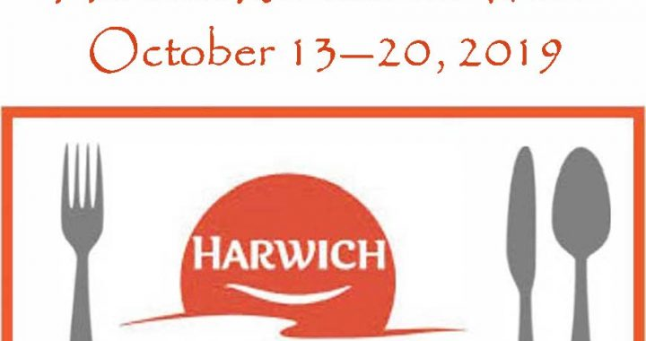 Restaurant Week logo combined with Harwich Chamber logo